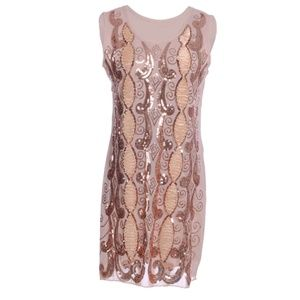 Gold Embroidered Flapper 20's Dress Costume